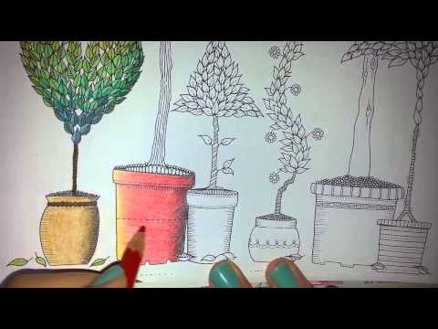 Secret Garden Coloring Book (Page 15) - YouTube