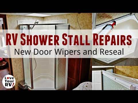 rv-shower-stall-repairs---new-door-sweeps-and-reseal