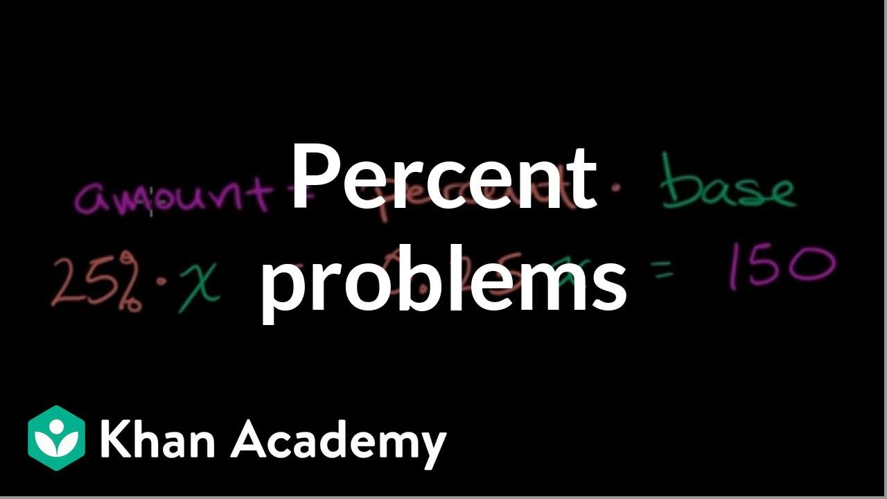 hight resolution of Solving percent problems (video)   Khan Academy