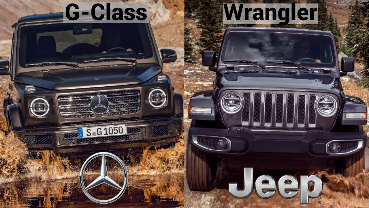 2019 mercedes benz g class vs 2018 jeep wrangler sahara youtube