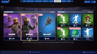 Fortnite Season X New Item Shop Reset, New Gutbomb, New Hothouse Skin, Get These Skins Free
