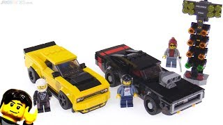 LEGO Speed Champion Dodge Challenger Demon & 1970 Charger review! 75893