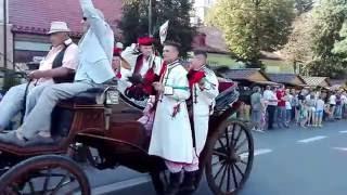 Dożynki Województwa Małopolskiego - Miechów 2016 - Miechowiacy na bryczkach