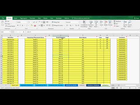 inventory tracking excel