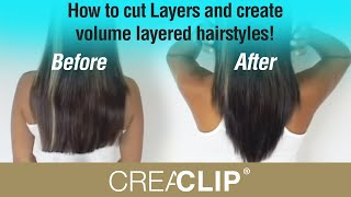 How to cut Layers and create volume layered hairstyles!