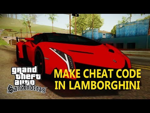 GTA San Andreas - How To Make (Install) Cheat Code in LAMBORGHINI For GTA San Andreas