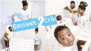 TRANSITION FROM CO-SLEEPING TO CRIB | KAMSI'S NEW BABY BED!!