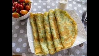 Удивляем семью – турецкие блины с зеленью на завтрак!