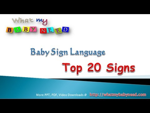 Baby Sign Language Pdf