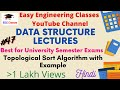 Topological sort algorithm with example in hindi english mp3