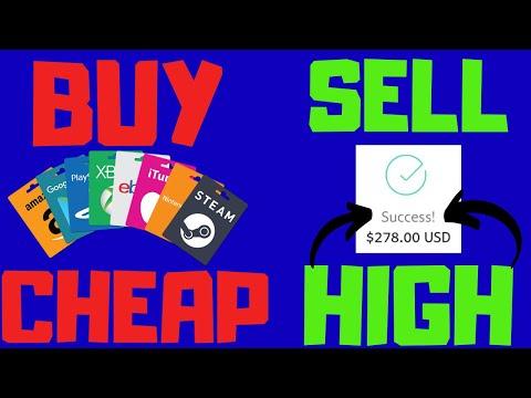 Earn Money Flipping Gift Cards - Super Easy Method