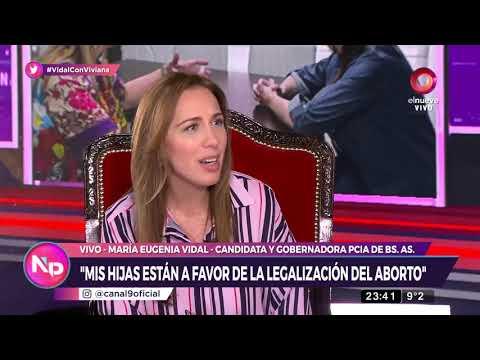Vidal: ''Mis hijas están a favor de la despenalización del aborto''