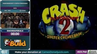 Crash Bandicoot 2 by swordofseals in 1:20:57 - Awesome Games Done Quick 2017 - Part 148