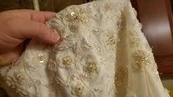 I washed my wedding dress in the washing machine!