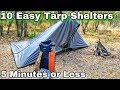 10 Emergency Tarp Shelter Setups for Camping  amp  Bushcraft