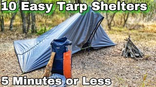 Download 10 Easy Tarp Shelters for Survival