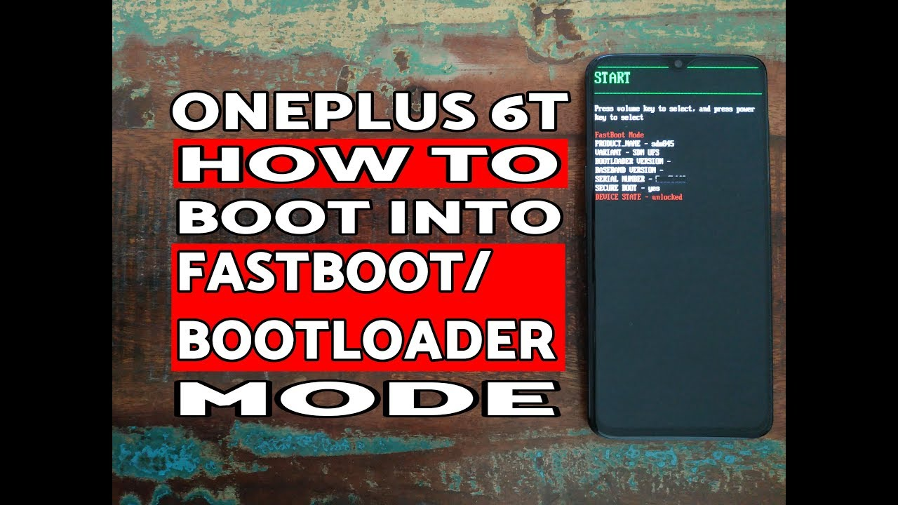 How to Boot OnePlus 6T into Fastboot Mode