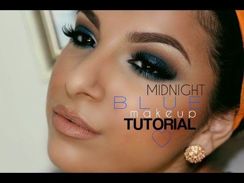 Midnight Blue Makeup Tutorial   Makeup By Leyla