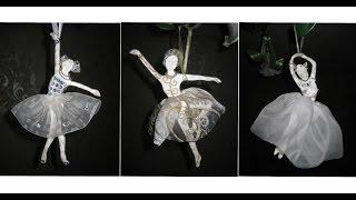 DIY Балерины из солёного теста своими руками. Мастер класс