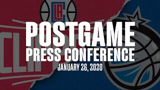 1-26-20 vs LA Clippers Press Conference