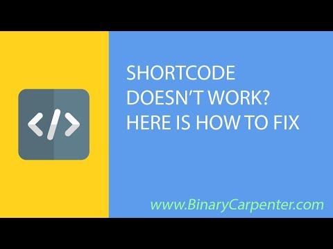 WordPress shortcodes not rendering