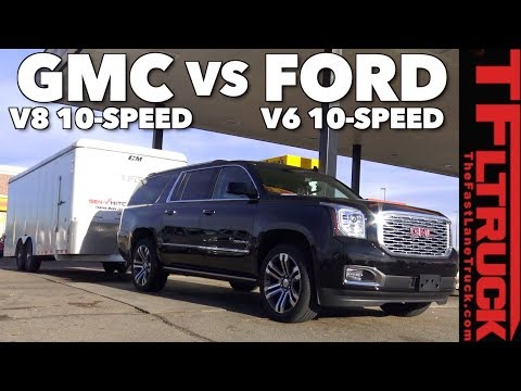 Does a 10 Speed Tow Better? GMC vs Ford Mashup Towing MPG Test