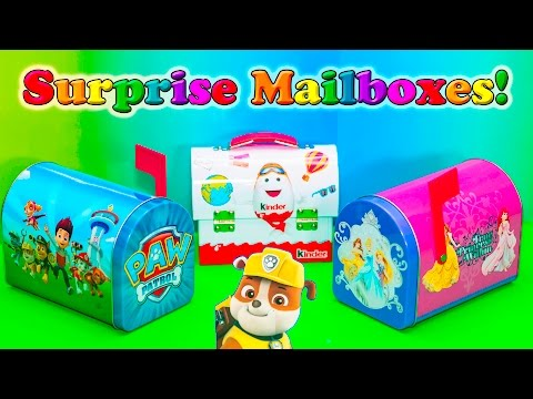 SURPRISE EGGS Nickelodeon Paw Patrol+ Disney Princess Surprise Eggs Video Surprise Mailboxes