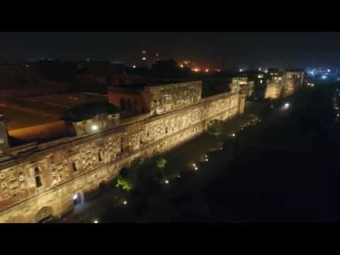 Illumination of the World's Largest Picture Wall (Lahore Fort)
