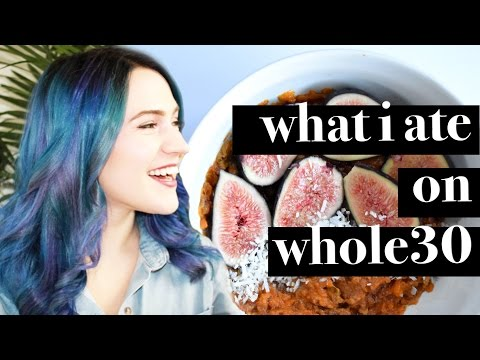 WHAT I ATE IN A DAY ON WHOLE30 VLOG | CLEAN EATING | VEGETARIAN | VEGAN