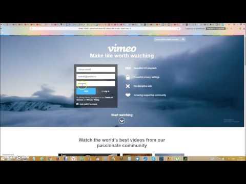 Как загрузить видео на vimeo.com