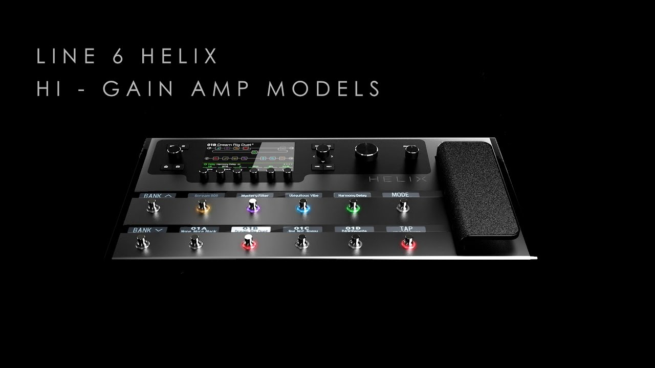 line 6 helix hi gain amp models demo rock metal youtube. Black Bedroom Furniture Sets. Home Design Ideas