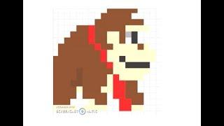 Pixel art Donkey Kong