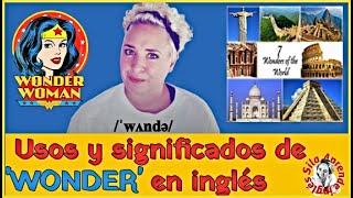 Usos y significados de 'WONDER' en inglés 🤓