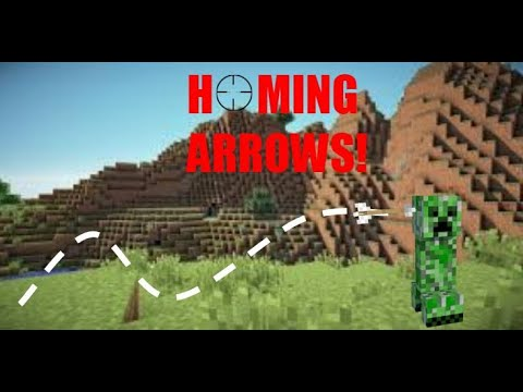 HOW TO MAKE HOMING/HEAT SEEKING ARROWS IN MINECRAFT (BEDROCK AND JAVA)