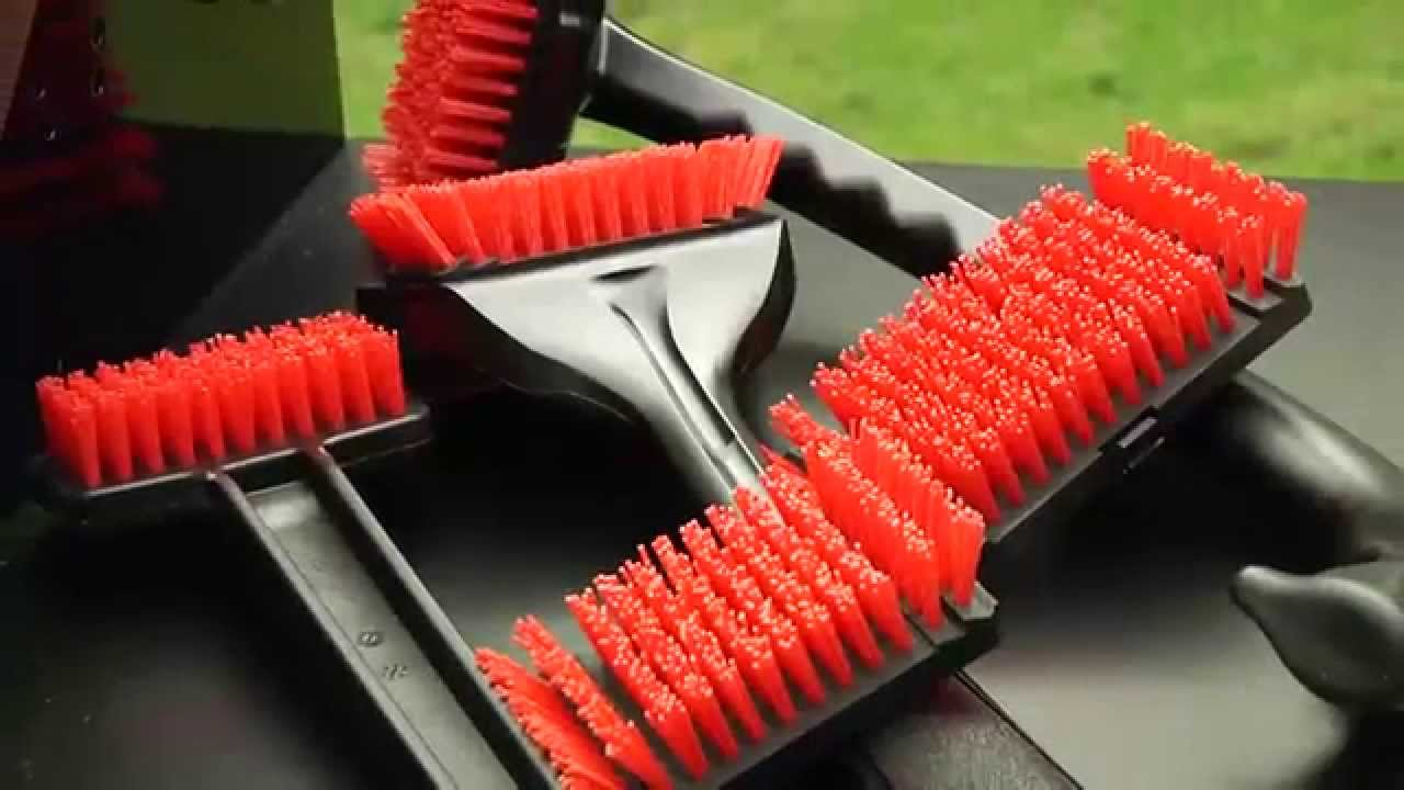 Outdoor Cooking Plastic Handle Nylon Bristle Head Barbecue Brush for Grills