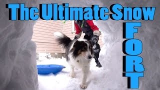 How To Build The Ultimate Snow Fort - Snow Igloo Style