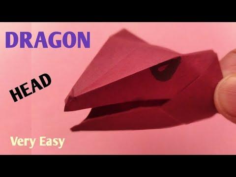 origami dragon head easy - paper dragon head easy
