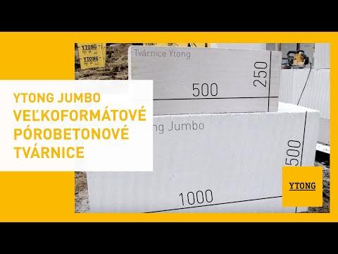 Veľkoformátové Tvárnice Jumbo Urýchlia Výstavbu | Ytong