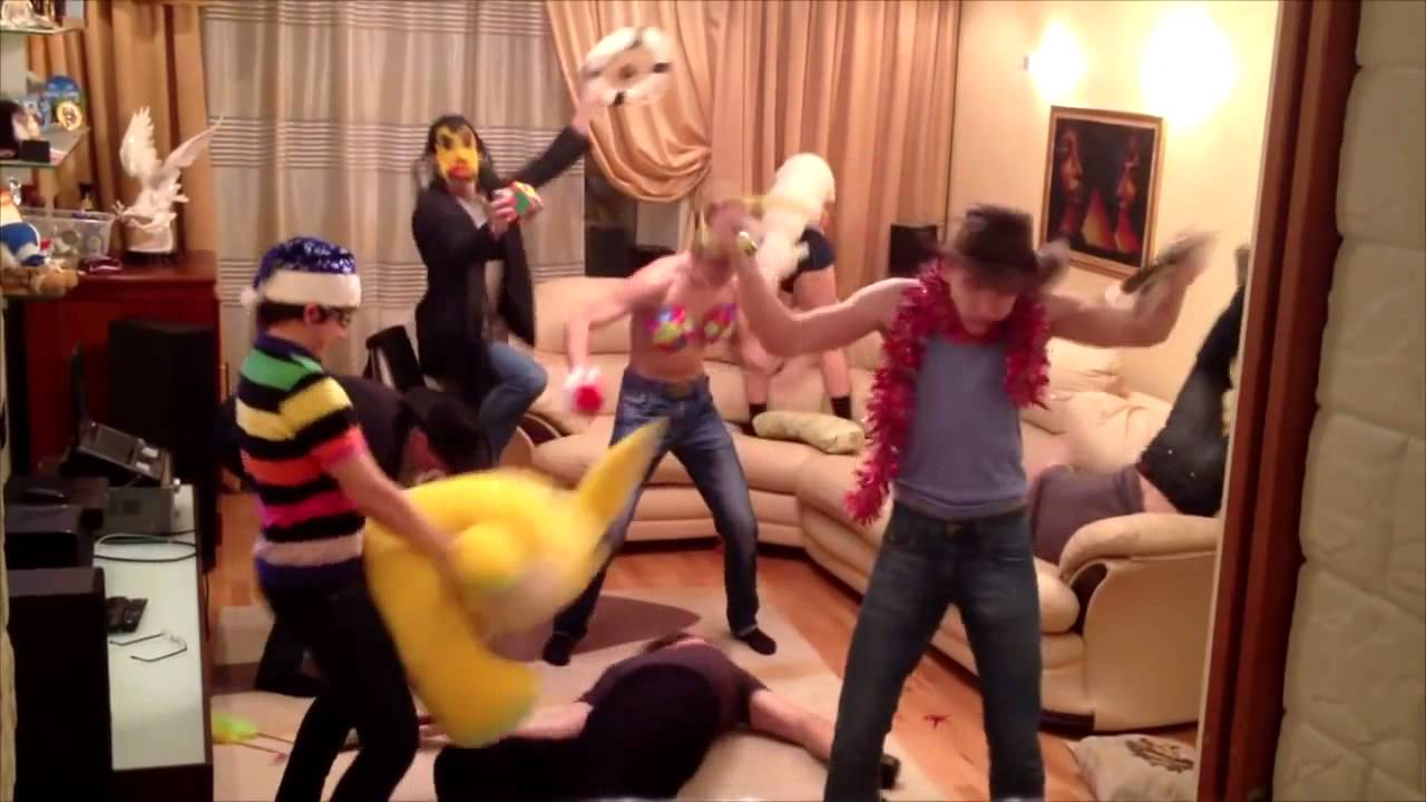 harlem shake russian students home party edition youtube