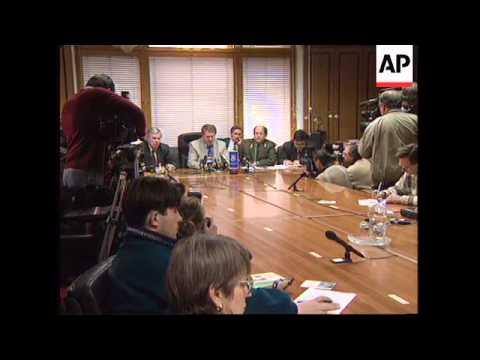 RUSSIA: NATIONALIST LEADER VLADIMIR ZHIRINOVSKY PRESS CONFERENCE