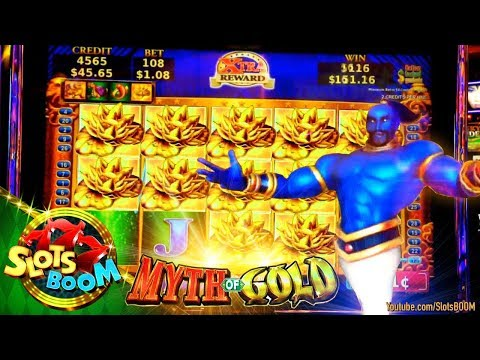 MYTH of GOLD !!! BONUSES !!!  NEW KONAMI Video Slot in San Manuel Casino