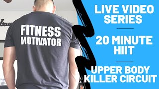 20 Minute Upper Body Killer Workout | From Home [No Equipment Needed]