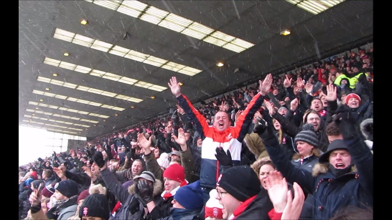 Lincoln v Grimsby - fans go totally crazy!!!