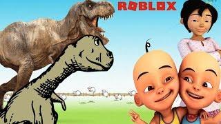 Upin Ipin Nurturing dinosaurs, Kak Ros great temper, Opah happy-Roblox Upin Ipin