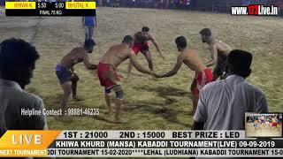 75 Kg. Super Final Match Khiwa Khurd  V/s  Bhutal Kalan/www.123Live.in