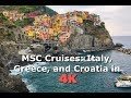 Italy, Greece, and Croatia Family Trip. Cruise Onboard MSC Sinfonia