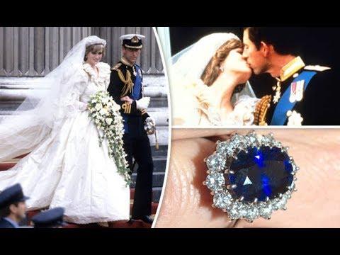 Princess Diana Wedding Ring.Princess Diana S Wedding To Prince Charles Photos Of The Engagement Ring Dress And More