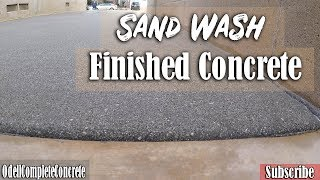 How to Pour a Concrete Sand-Wash Finished Driveway and Wooden Stamped Concrete Patio Part 2