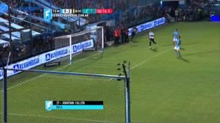 Gol de Calleri. Temperley 0 - Boca 2. Fecha 2. Primera División 2015. FPT