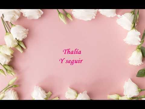 Thalía - Y seguir